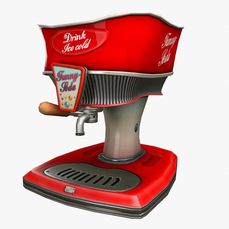 cola dispenser cartoon model