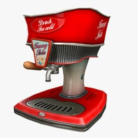 cola dispenser cartoon model