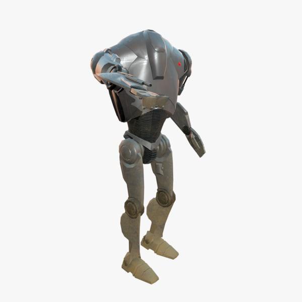3D model super battle droid b2