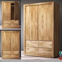 3D reclaimed russian oak armoire