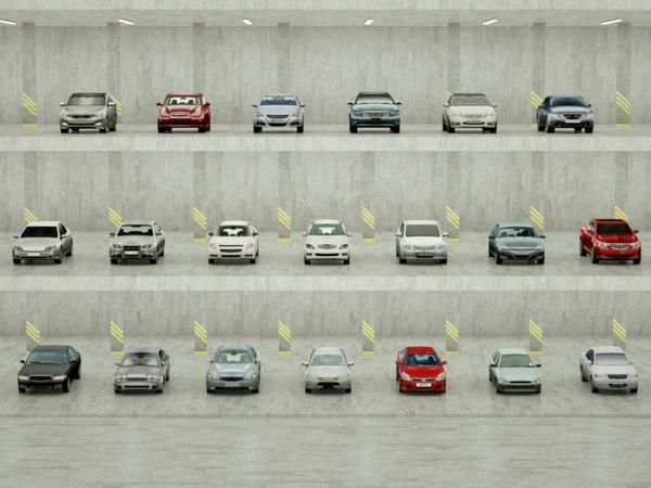 3D 20 sedans model
