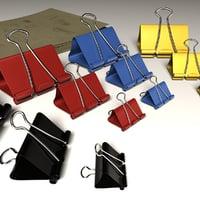 3D binder clips