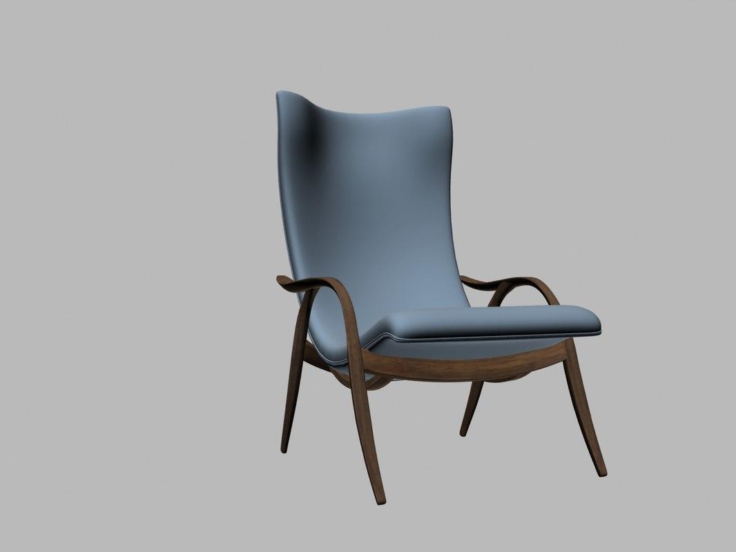 signature chair fh429 carl 3D model