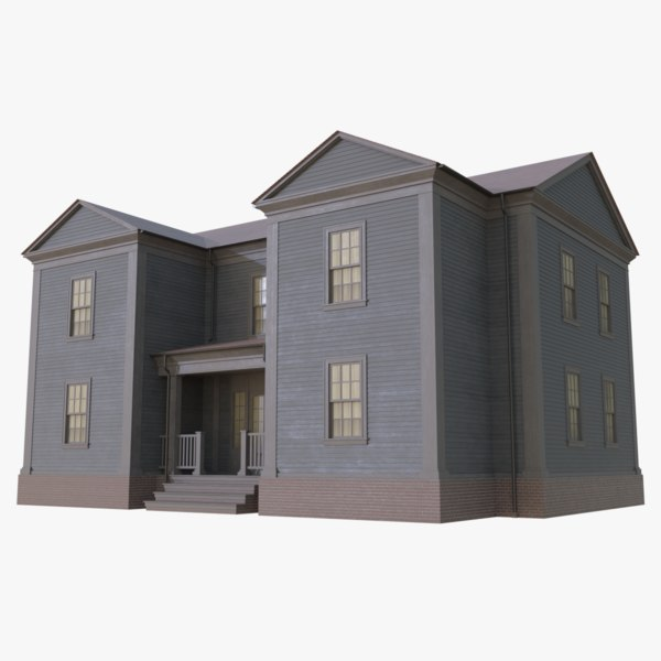 colonial house 8 3D model