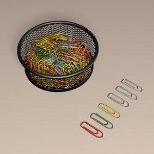 paper clips 3D model