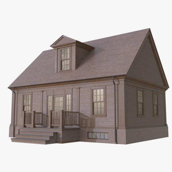 colonial house 10 3D model