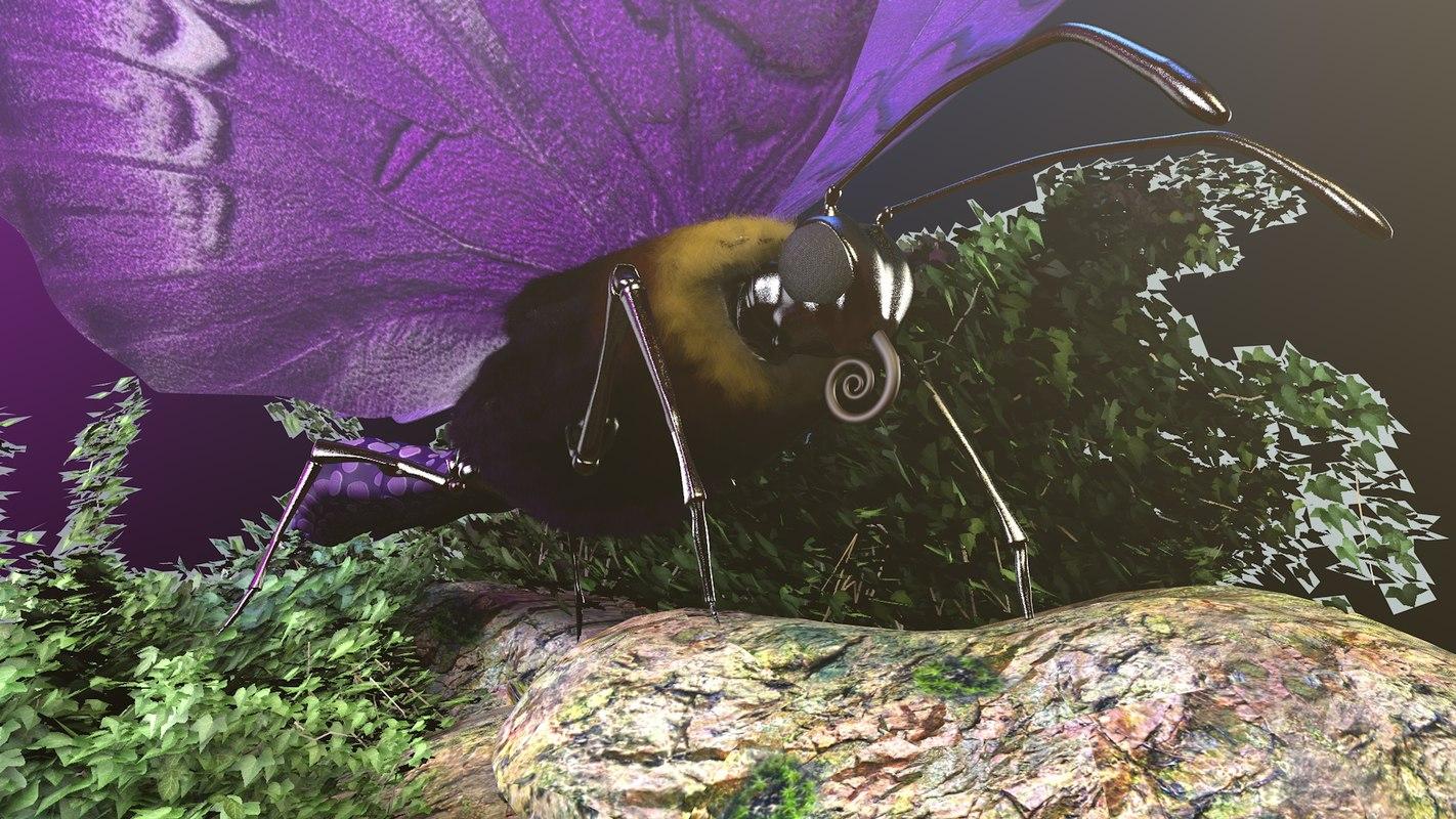 butterfly animate 3D model