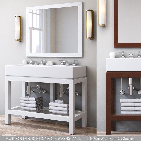3D hutton double console washstand model