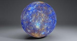 11k mercury globe 3D model