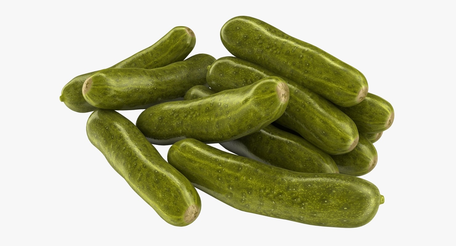 realistic pickled cucumbers 3D model