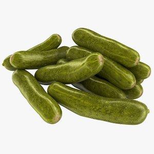 realistic pickled cucumbers 3D model