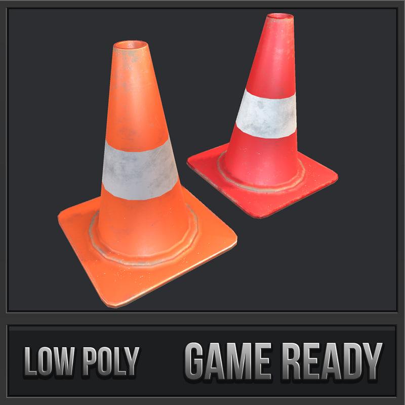 road cone model