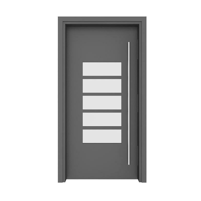 3D model metal door