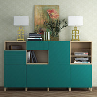 Besta storage combination  Hallstavik (blue-green) .