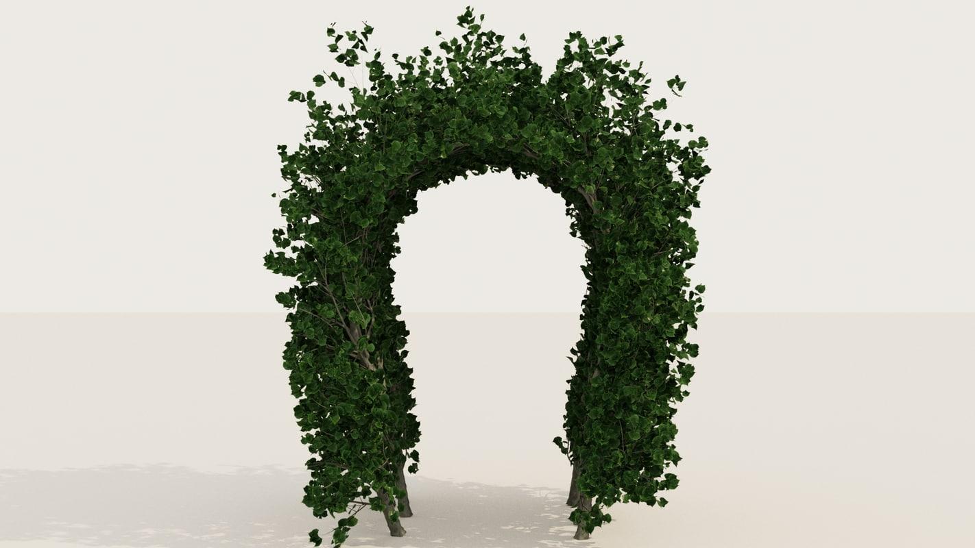 3D linden arch