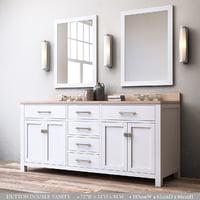 3D hutton double vanity model