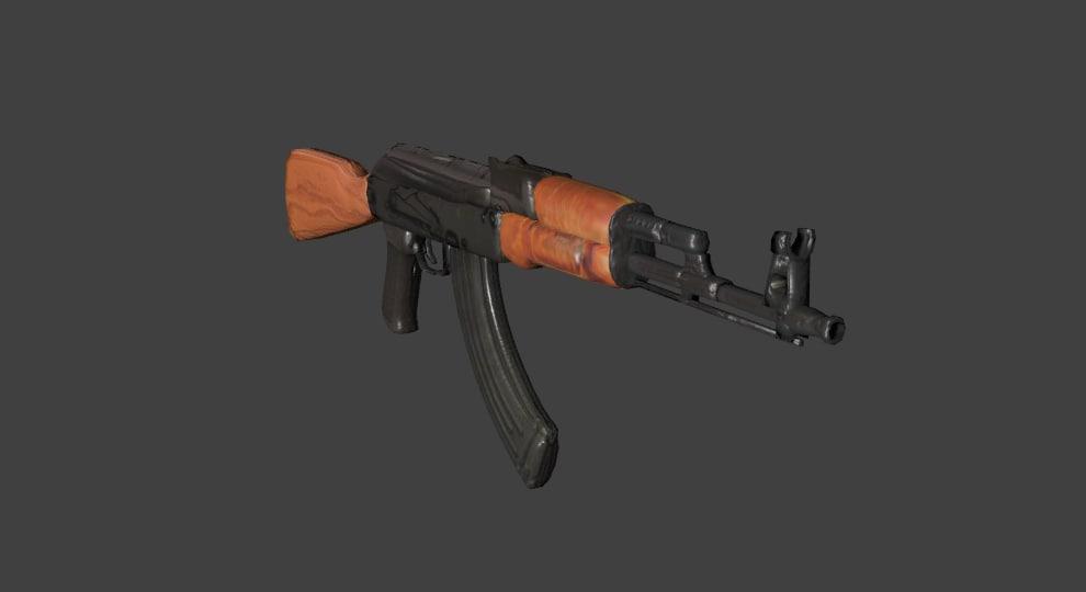 3D kalashnikov rifle gun