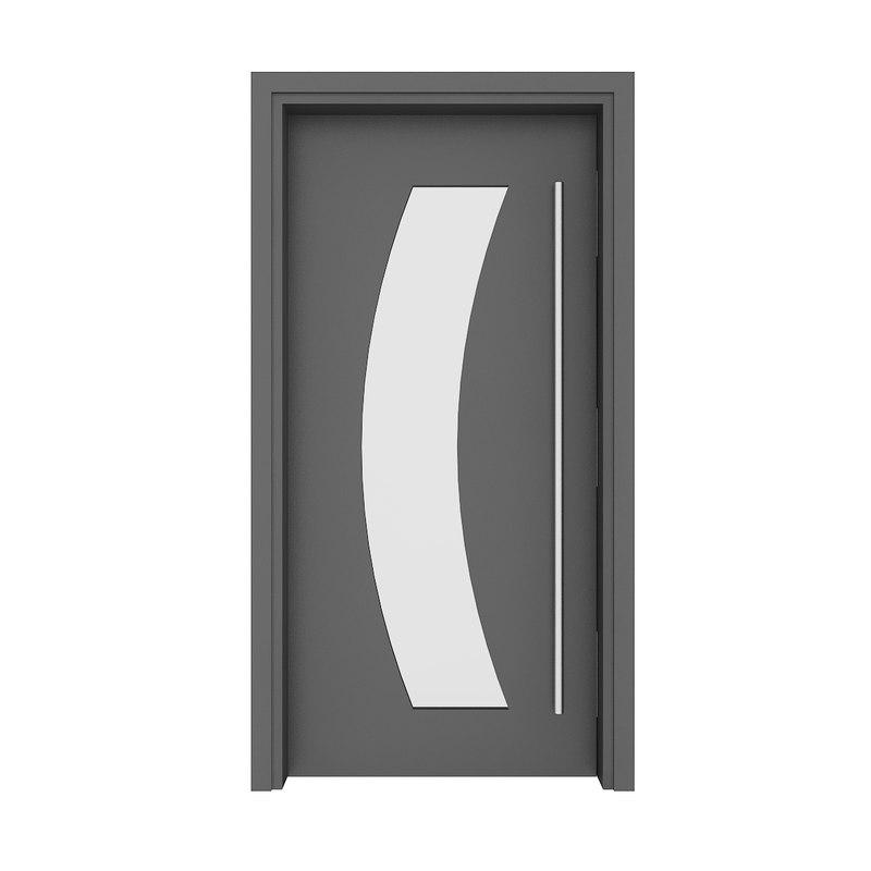 metal door 3D