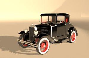 3D t old car model