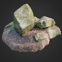 3D scanned nature stone 012