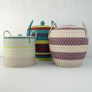 3D baskets zara home model