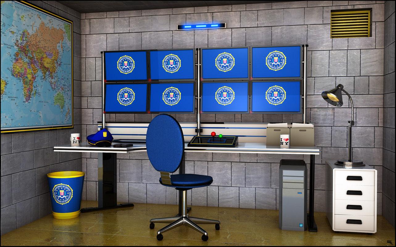 surveillance room 3D