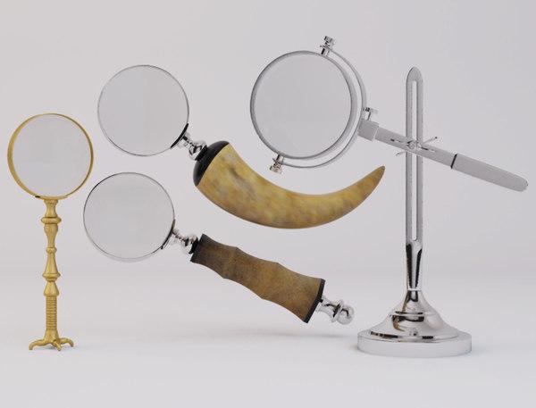 3D model decorative magnifying glasses zara