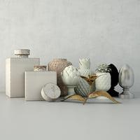 decorative ornaments zara home 3D model