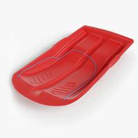 plastic sled 3D