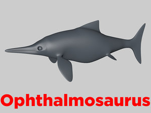 3D model ophthalmosaurus base