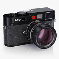 photo camera leica m9 3D model