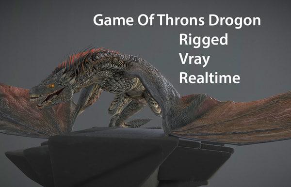 3D model dragon drogon thrones