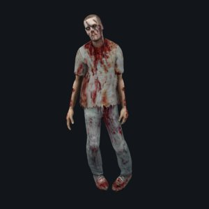 zombie animation walk rigged 3D model