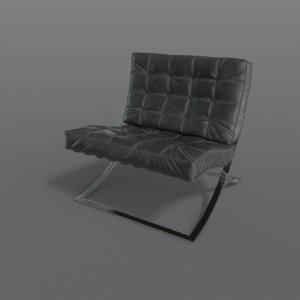 3D realistic barcelona chair -