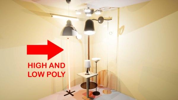 3D pack lamps model