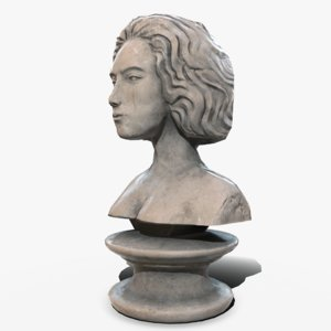 neoclassical bust female 3D model