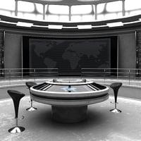Futuristischer Kontrollraum