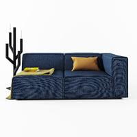 boconcept carmo aa00 sofa 3D