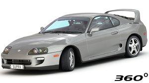 3D model toyota supra turbo 1997