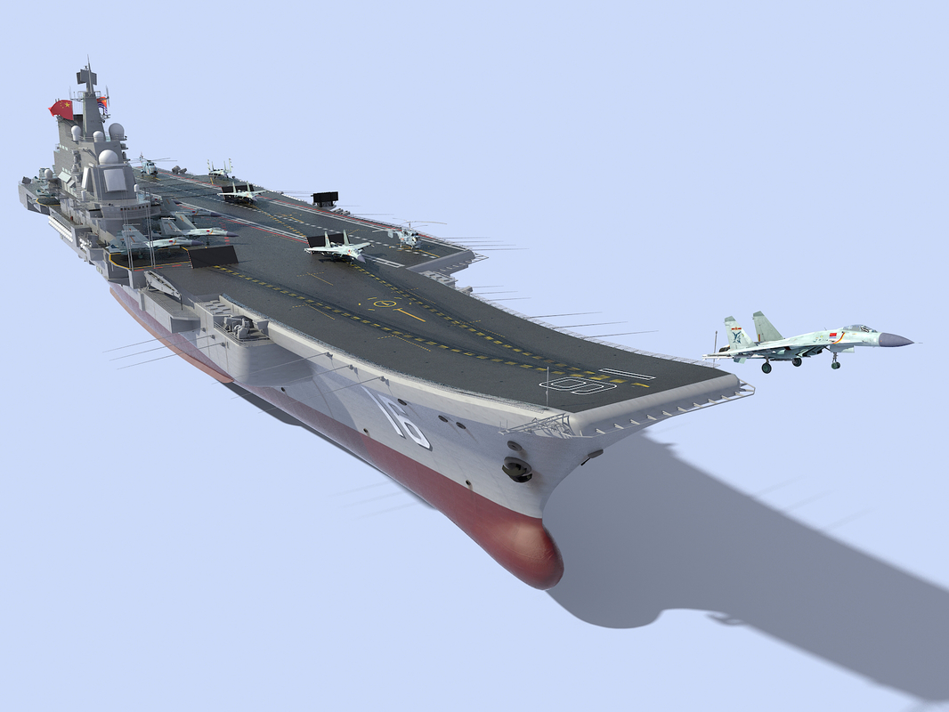 chinese aircraft carrier cv-16 3D model