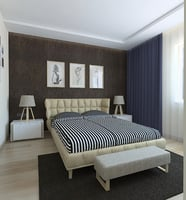 bed bedroom curtains 3D