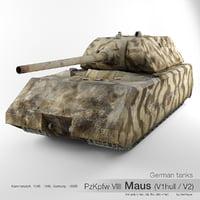 viii maus v2 v1 3D model