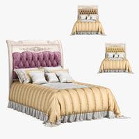 3D 230 carpenter bed plan model
