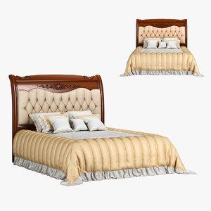 230-1 carpenter bed plan 3D model