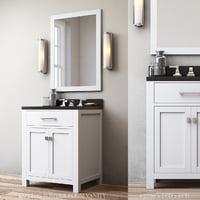 3D model hutton powder room vanity