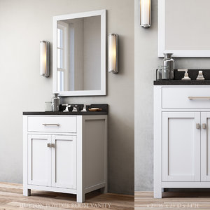 3D model hutton powder room vanity