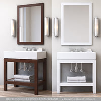 3D hutton single console washstand