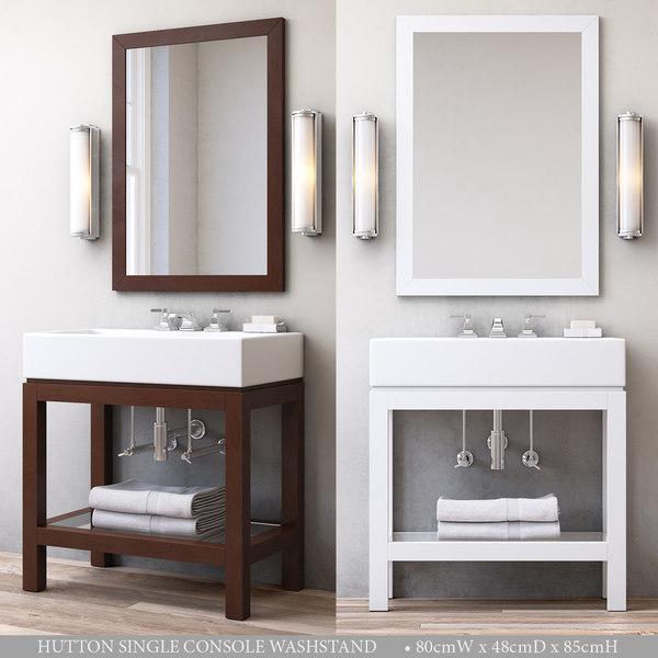 3D hutton single console washstand