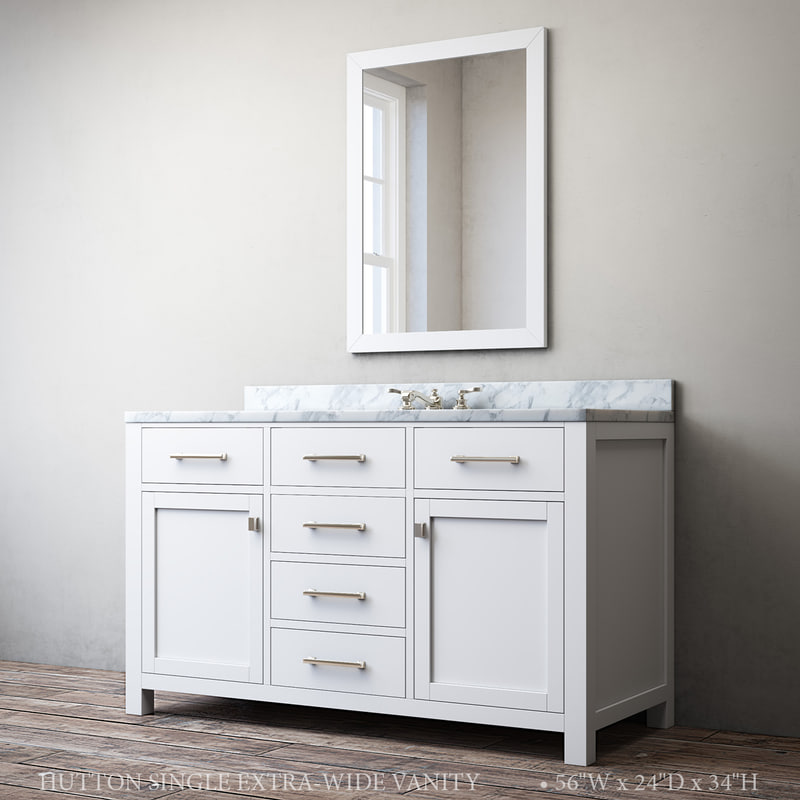 3D model hutton single extra-wide vanity