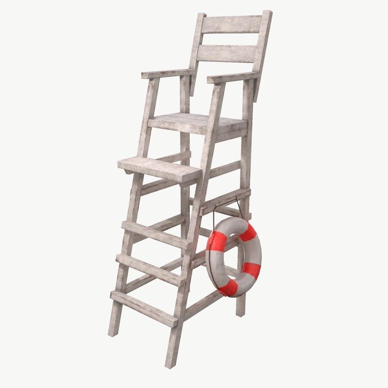 lifeguard chair 3D model